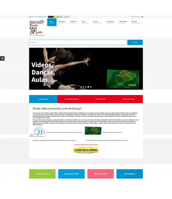 Website Completo: Sistema de Acessibilid...