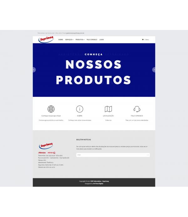 WebSite Completo:  Papelaria c/ Hospedag...